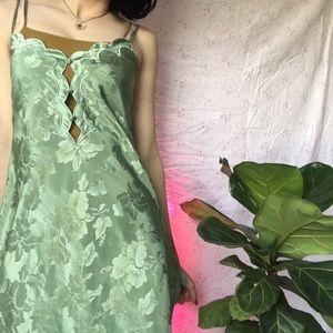 Vintage Green Slip ♡